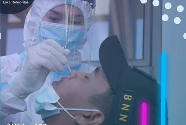 Pemeriksaan Swab PCR Kepada Pimpinan dan Seluruh Pegawai Loka Rehabilitasi BNN Batam