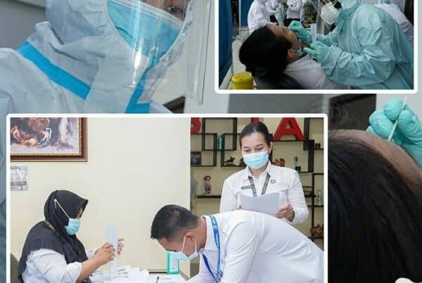 Pemeriksaan Swab PCR Periode Kedua Bagi Seluruh Pegawai Loka Rehabilitasi BNN Batam