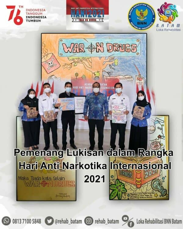Karya Lukisan dari Petugas Rehabilitasi Memperingati Hari Anti Narkotika Internasional (HANI) tahun 2021