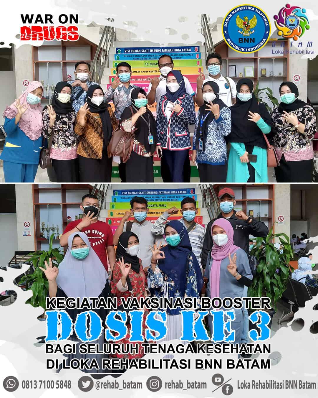 Sebanyak 20 Nakes di Loka Batam Divaksinasi Dosis ke-3 (booster)